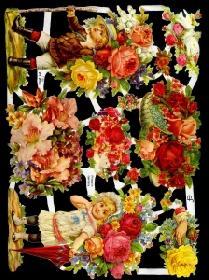 Glanzbilder - Blumen mit Horn