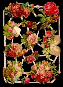 Glanzbilder - Rosen mit Herz
