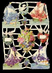 Glanzbilder - Blumenschiffe