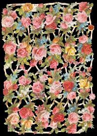 Glanzbilder - kleine Rosenkörbchen