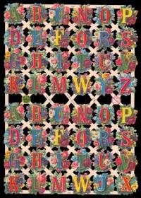 Glanzbilder mit Silber-Glimmer - Bogen mit 48 Buchstaben