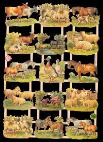 Glanzbilder - Bauernhoftiere