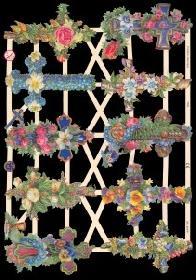Glanzbilder - Blumenkreuze
