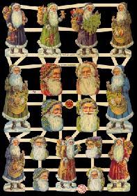 Glanzbilder - Weichnachtsmänner & Weihnachtsmannköpfe