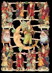 Glanzbilder - Mann im Mond/ Weihnachten