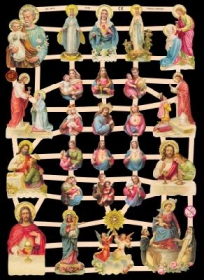 Glanzbilder mit Silber-Glimmer - Verschiedene Jesusbilder