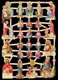 Glanzbilder kleine Heilige