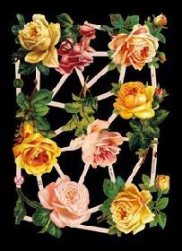 Glanzbilder - gelbe Rosen