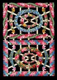 Glanzbilder mit Silber-Glimmer - 4 ovale Rahmen, 8 Borten und 2 Blumenbanner