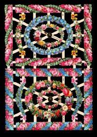 Glanzbilder - Blumenborten