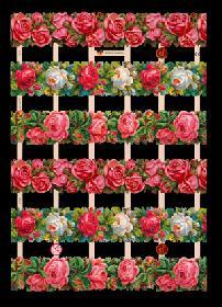 Glanzbilder mit Glimmer Rosenstreifen
