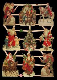 Glanzbilder mit Glimmer Weihnachten - silber