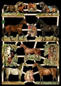 Glanzbilder mit Glimmer - Pferde