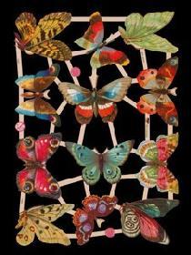 Glanzbilder mit Glimmer - Schmetterling