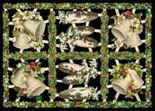 Glanzbilder mit Silber-Glimmer - 6 Weihnachtsmotive mit Glocken