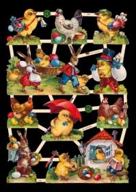 Glanzbilder mit Glimmer Ostern