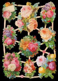 Glanzbilder mit Glimmer - Blumen