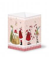 Adventskalender Weihnachtsmann mit Zuckerstange
