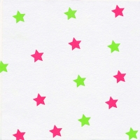 Airlaid Dinner Servietten - Little Stars red/green