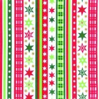Dinner Servietten SV Stripes & Stars red/green