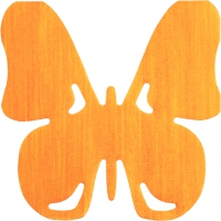 Gestanzte Servietten - Schmetterling orange