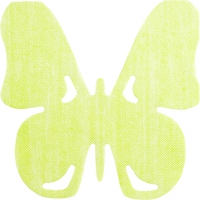 Gestanzte Servietten - SV Butterfly green
