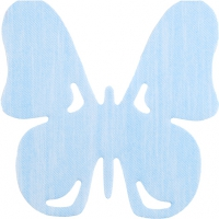 Gestanzte Servietten - Schmetterling blau