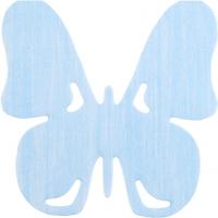 Gestanzte Servietten - Butterfly blue