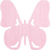 Gestanzte Servietten - Schmetterlingsrose