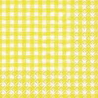Servietten 25x25 cm - Karo gelb