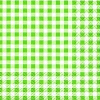 Servietten 25x25 cm - Karo green