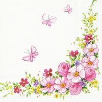 Servietten 25x25 cm - Cute Flowers