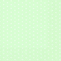 Servietten 25x25 cm - Mini Dots pastel green