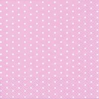 Servietten 25x25 cm - Mini Dots rose