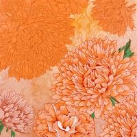 Servietten 25x25 cm - Reines und starkes Orange