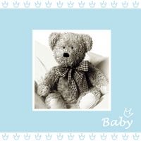 Servietten 25x25 cm - Baby blue