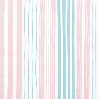 Servietten 25x25 cm - Striped nude
