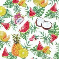 Servietten 25x25 cm - Exotic Fruits