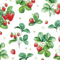 Servietten 25x25 cm - Strawberry Pattern