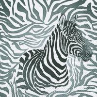 Servietten 33x33 cm - Zebra