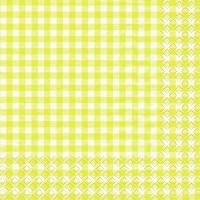 Servietten 33x33 cm - Karo yellow