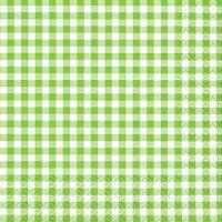Servietten 33x33 cm - Karo green