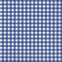 Servietten 33x33 cm - Karo blau