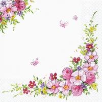 Servietten 33x33 cm - Niedliche Blumen