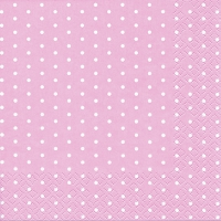 Servietten 33x33 cm - Mini Dots Rose