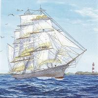 Lunch Servietten Sailing Ship
