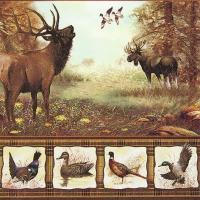 Servietten 33x33 cm - Wildlife