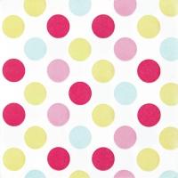 Servietten 33x33 cm - Maxi Dots pastel