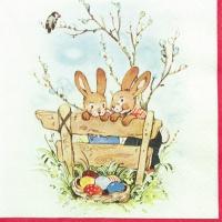 Servietten 33x33 cm - Bunny Friends