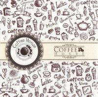 Servietten 33x33 cm - Kaffeehaus